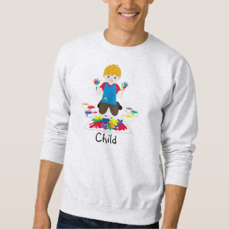 Child fingerpainting sweater