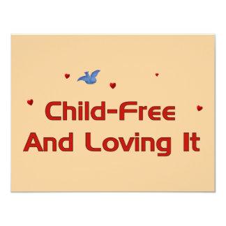Child-Free Loving It 11 Cm X 14 Cm Invitation Card