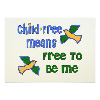 Child-Free Me 13 Cm X 18 Cm Invitation Card