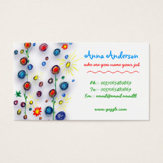 child handmade painting business card