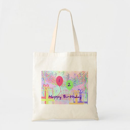 Child Happy Birthday Two Years Old Tote Bags
