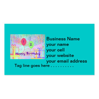 Child Happy Birthday Two Years Old Business Card Templates