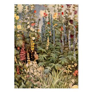 Child in a Garden Postcard