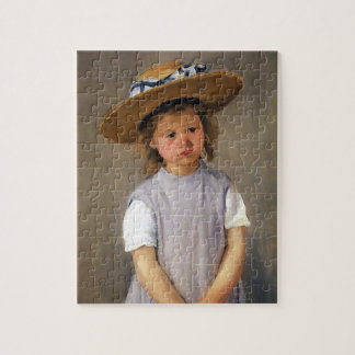 Child in a Straw Hat Jigsaw Puzzle