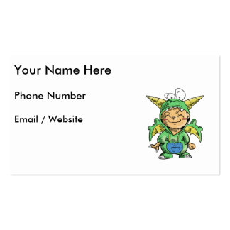 Child in Cute Dragon Costume Business Card Template
