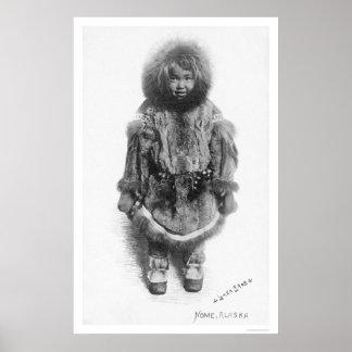 Child In Fur Nome Alaska 1920 Print