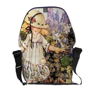 Child in Garden Messenger Bags