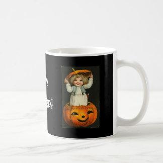 child in jackolantern mugs