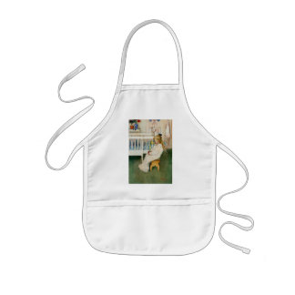 Child in Nursery with Yellow  Tulip Aprons