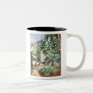 Child in Rose Garden, Berthe Morisot Fine Art Two-Tone Mug