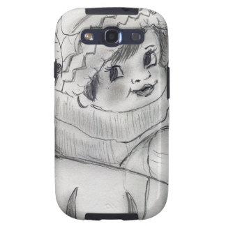 Child In Sleigh Samsung Galaxy S3 Case
