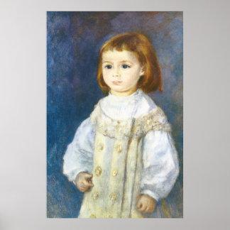 Child in White by Pierre Auguste Renoir Print