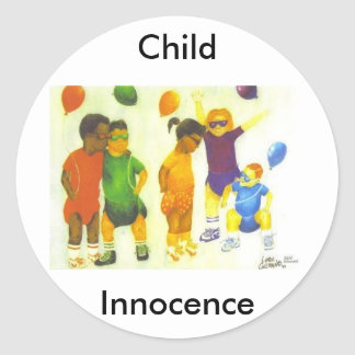 Child Innocence Classic Round Sticker