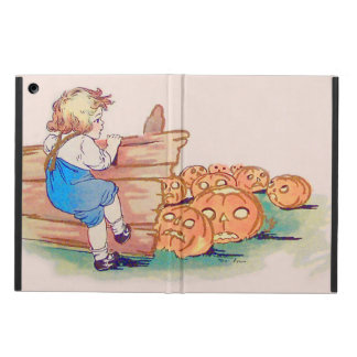 Child Jack O' Lantern Pumpkin Patch Cover For iPad Air