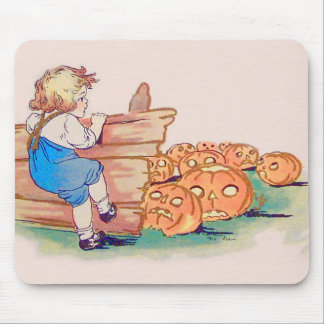 Child Jack O' Lantern Pumpkin Patch Mouse Pad