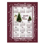 Child & Jack Russell Pink Poinsettia 2015 Calendar