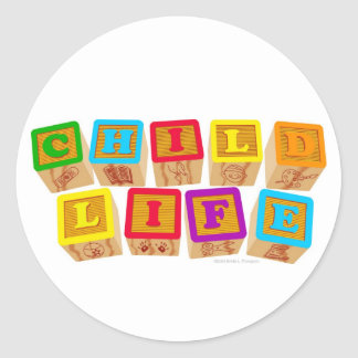 Child Life Blocks Stickers