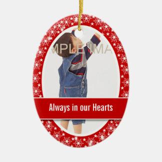 Child memorial photo PERSONALIZE Christmas Ornament