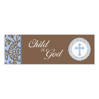 Child of God - Blue Favor Tag Business Card Templates