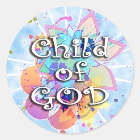 Child of God, Pastel Classic Round Sticker