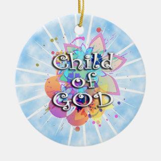 Child of God, Pastel Round Ceramic Decoration