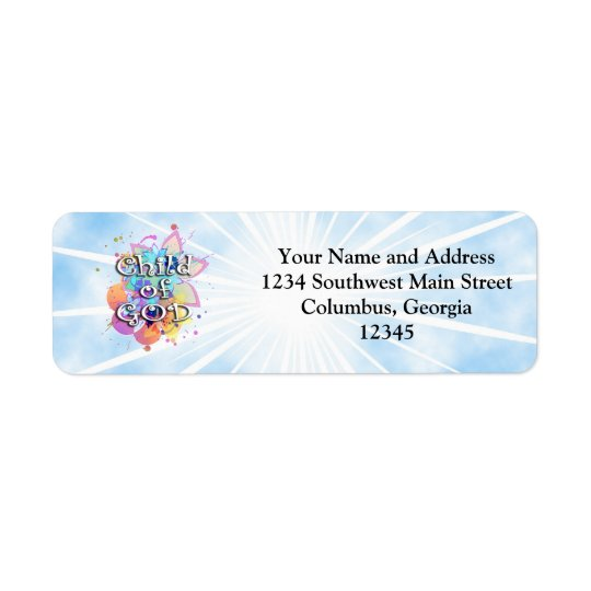 Child of God, Pastel Return Address Label