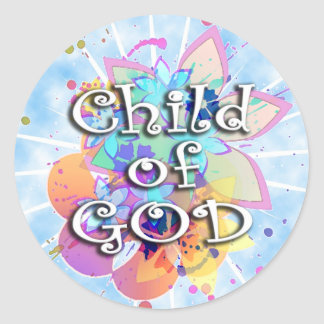 Child of God, Pastel Round Sticker