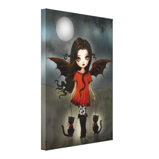 Child of Halloween Wrapped Canvas Print
