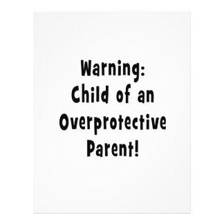 child of overprotective parent black flyer design