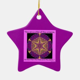 """""""Child of the Universe"""" - Desiderata Ornament.1 Christmas Ornament"""