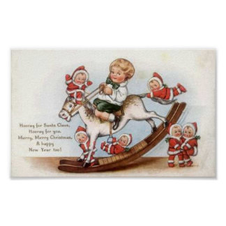 Child on Rocking Horse Print