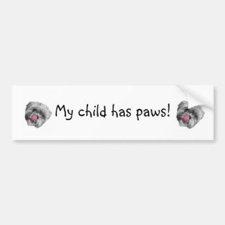 Child Paws Bumper Sticker