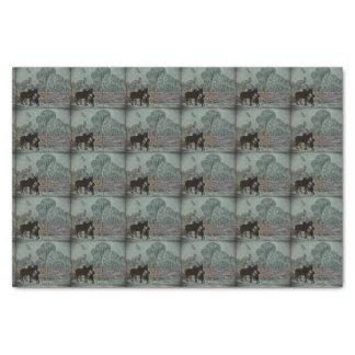 Child Petting Donkey Tissue Paper