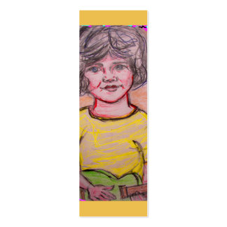 child playing toy electric guitar pack of skinny business cards