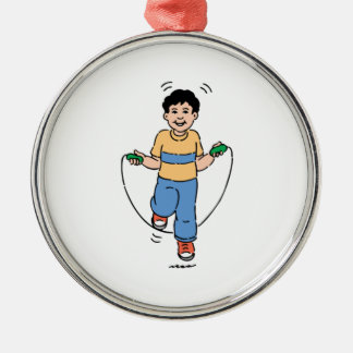 Child Playing with a Jump Rope Christmas Ornament