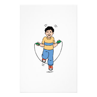 Child Playing with a Jump Rope Personalized Stationery