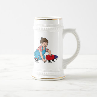 Child Playing with Toy Truck Mugs