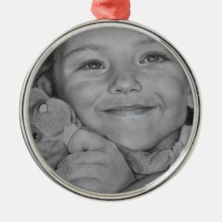 Child portrait Silver-Colored round decoration