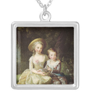 Child portraits of Marie-Therese-Charlotte Silver Plated Necklace