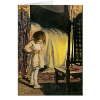 Child Preparing for Bed Greeting Card