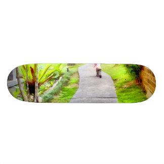 Child running on track 21.3 cm mini skateboard deck
