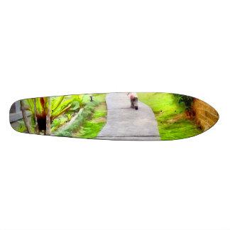 Child running on track 21.6 cm old school skateboard deck