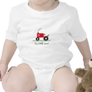 Child s Red Tractor T-Shirt Customize Age