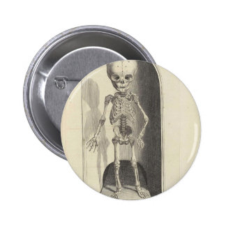 Child Skeleton 6 Cm Round Badge