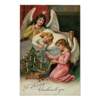 Child Sleeping with Angels Print