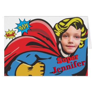 Child Superhero Card