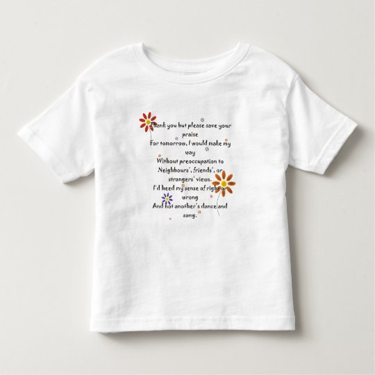 Child T - Praise Poem Toddler T-Shirt