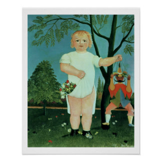 Child with a Puppet, c.1903 (oil on canvas) Poster