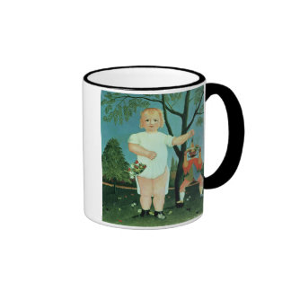 Child with a Puppet, c.1903 (oil on canvas) Ringer Mug
