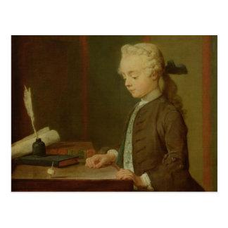 Child with a Teetotum, 1738 Postcard